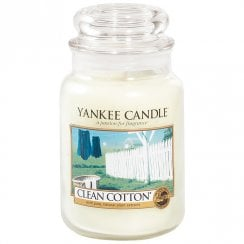 Large Jar Candle Clean Cotton