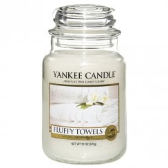 Large Jar Candle Fluffy Towels