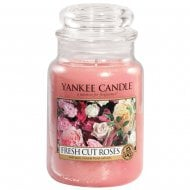 Large Jar Candle Fresh Cut Roses