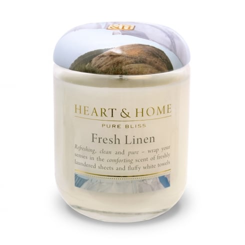Heart & Home Large Jar Candle Fresh Linen