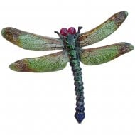 Large Metal Green Dragonfly Home Garden Wall Plaque