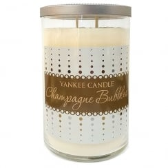 Large Tumbler Candle Champagne Bubbles