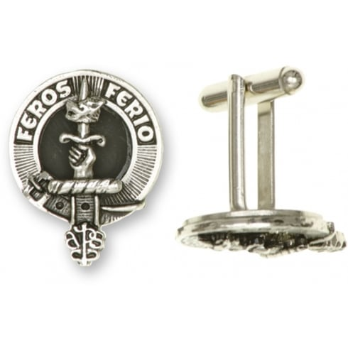 Art Pewter Leask Clan Crest Cufflinks