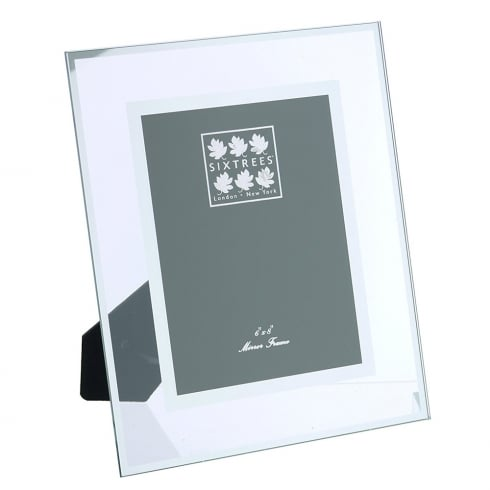Sixtrees Lenton - Flat Glass/Mirror Line Photo Frame 6 x 8
