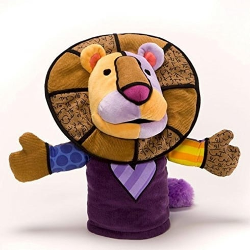 Romero Britto Leonardo The Lion Hand Puppet