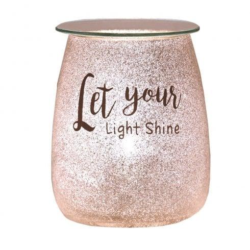 Aromatize Ltd Let Your Light Shine 15cm Glitter Electric Wax Warmer Burner