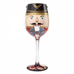 Lets Get Nuts Wine Glass