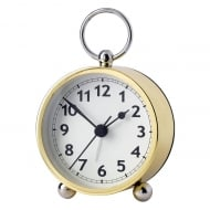 Lge Table Alarm Clock Gold