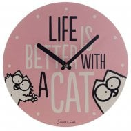 Life is Better With A Cat Simons Cat Picture Clock