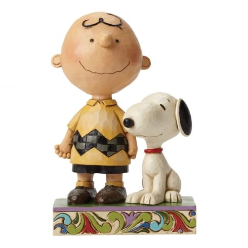 Jim Shore - Peanuts Life Is Better With A Dog Charlie Brown and Snoopy Figurine