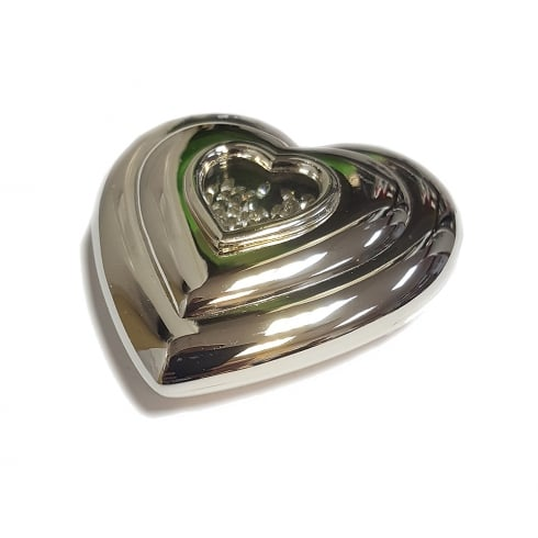 Silver Options Lifetime Heart Compact Mirror