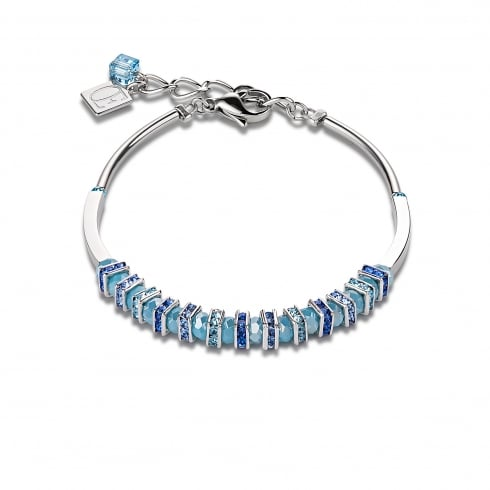 COEUR DE LION Light Blue Swarovski Crystal with Cut Glass Bracelet