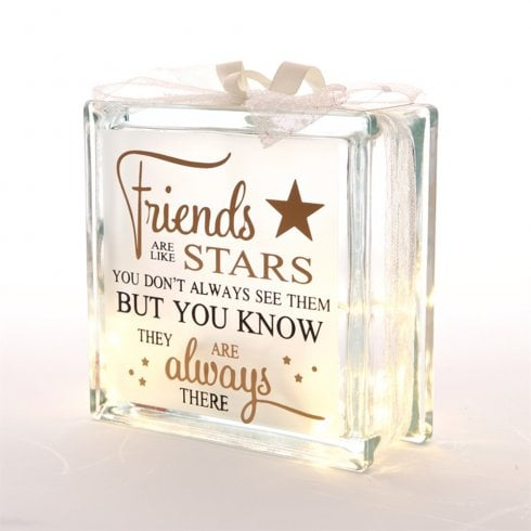 IEP Light Up Glass Block Friends Are Stars