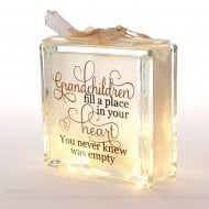 Light Up Glass Block Grandchildren