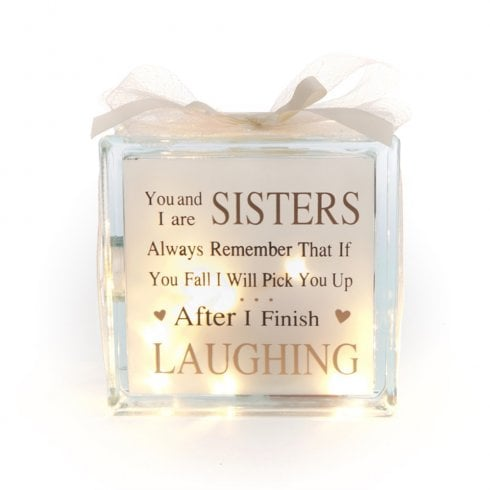 IEP Light Up Glass Block Sisters