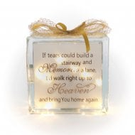 Light Up Glass Block Stairways & Memories