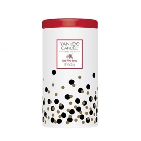 Yankee Candle Limited Edition Iced Pine Berry Pillar Candle In Ceramic Jar