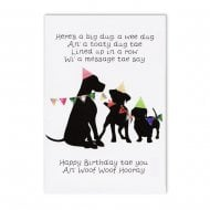 Line of Dugs Scottish Birthday Card