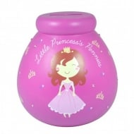 Little Princess Small Ceramic Money Pot