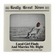 Local Girl Finds And Marries Mr Right 4 x 5 Photo Frame