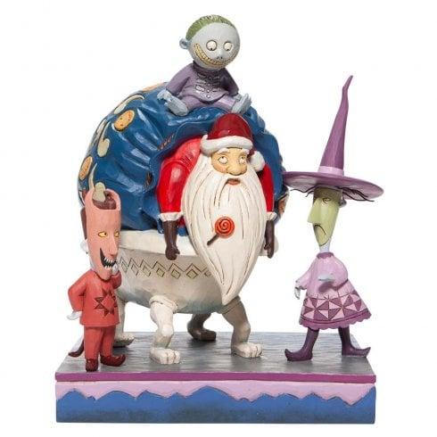 Disney Traditions Lock, Shock and Barrel with Santa Figurine