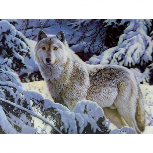 Faithful Friends Collectables Lone Wolf In Snow