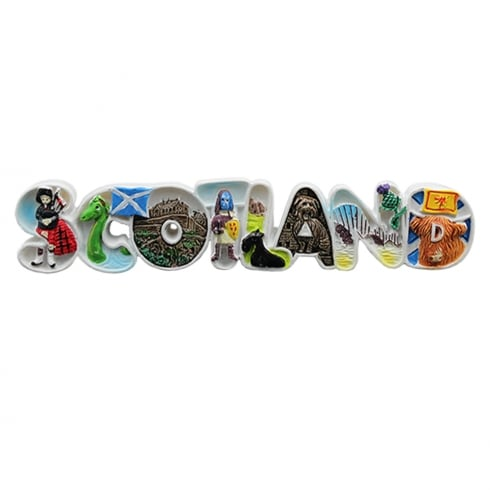 EastWest Long Letter Resin Magnet Of Scotland