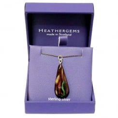 Long Teardrop Heather Pendant