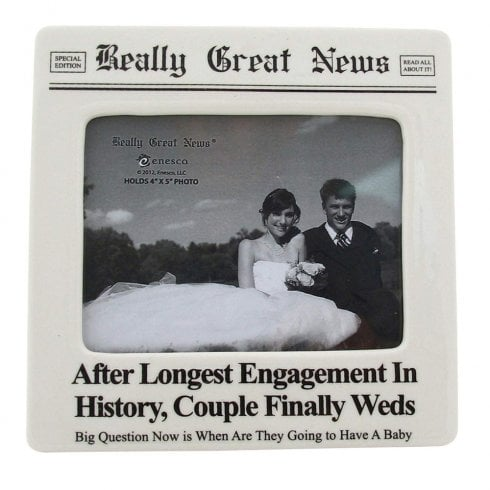 Really Great News Longest Engagement 4 x 5 Photo Frame