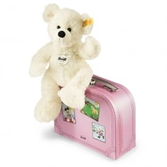 Lotte Teddy Bear in Suitcase White