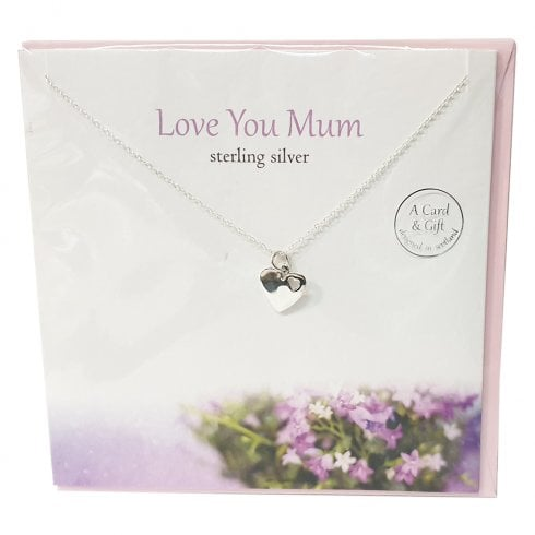 The Silver Studio Love You Mum Pendant