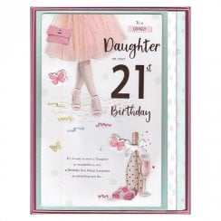 Lovely Daughter On Your 21st Birthday Ballerina Boxed Large Card