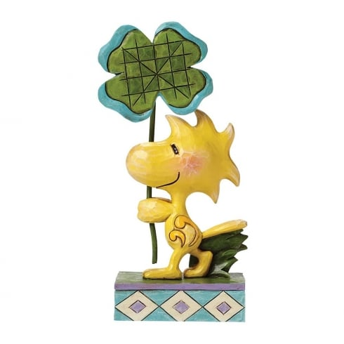 Jim Shore - Peanuts Luck Of The Woodstock With Clover Figurine