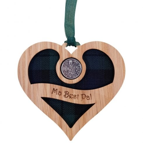 LT Creations Ma Best Pal - Heart Lucky Sixpence