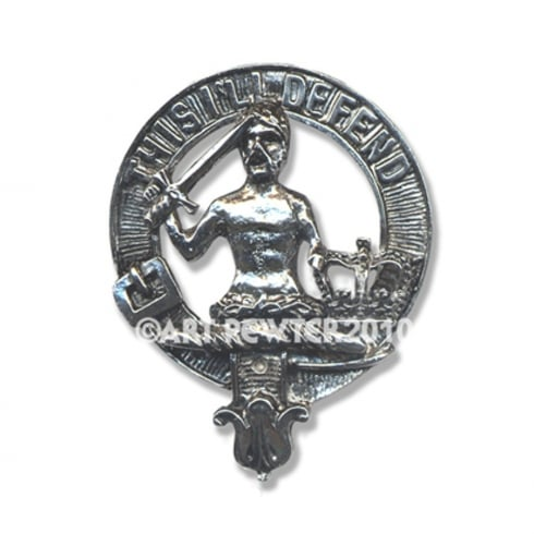 Art Pewter MacFarlane Clan Crest Key Fob