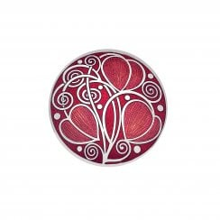 Mackintosh Brooch Leaves & Coils - Red 7700R