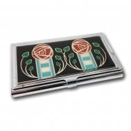 Mackintosh Card Holder Black Rose