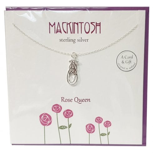 The Silver Studio Mackintosh Rose Queen Pendant