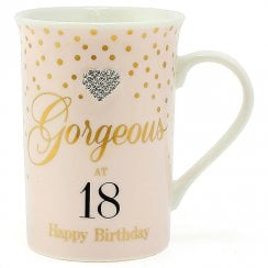 Mad Dots Gorgeous At 18 Mug