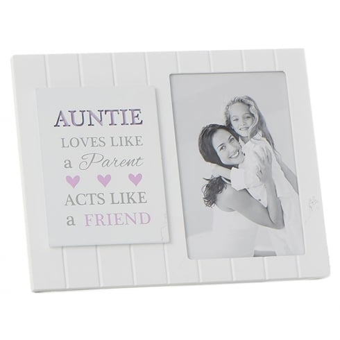 Shudehill Giftware Madison Style Auntie 4 x 6 MDF Photo Frame