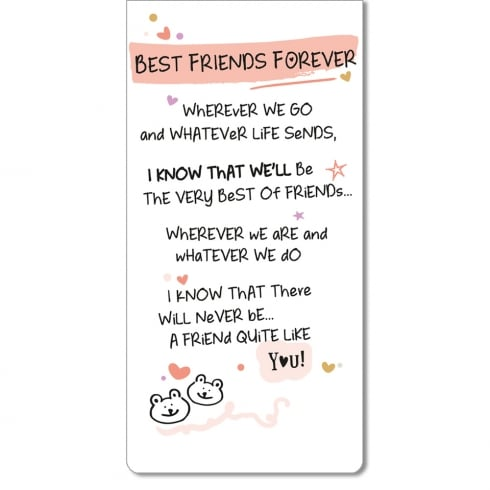 WPL Magnetic Bookmark - Best Friends Forever