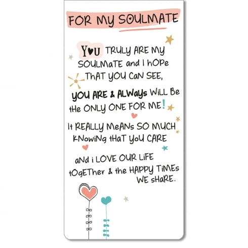 WPL Magnetic Bookmark - For My Soulmate
