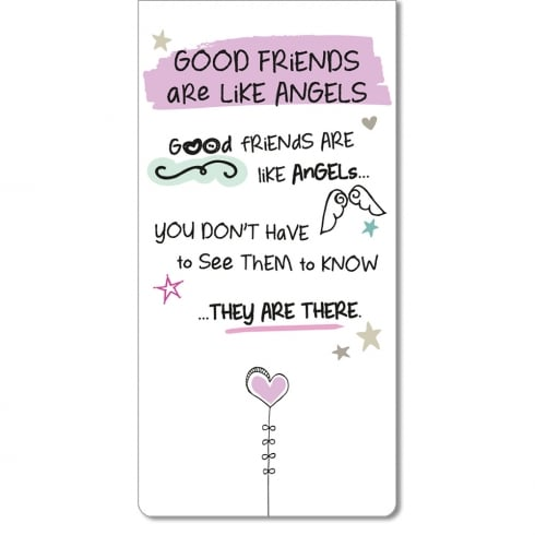 WPL Magnetic Bookmark - Good Friends Are Like Angels