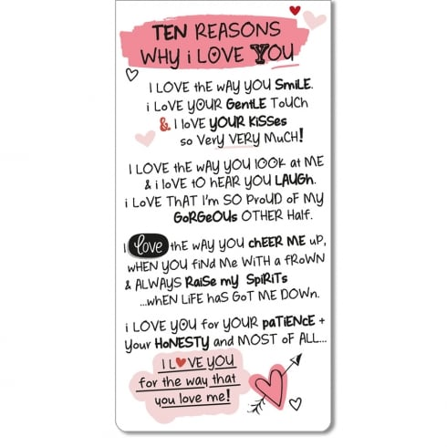 WPL Magnetic Bookmark - Ten Reasons Why I Love You