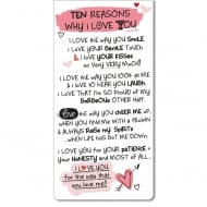 Magnetic Bookmark - Ten Reasons Why I Love You