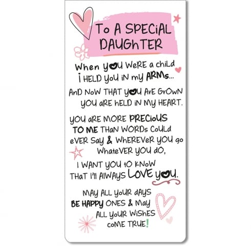 WPL Magnetic Bookmark - To A Special Daughter