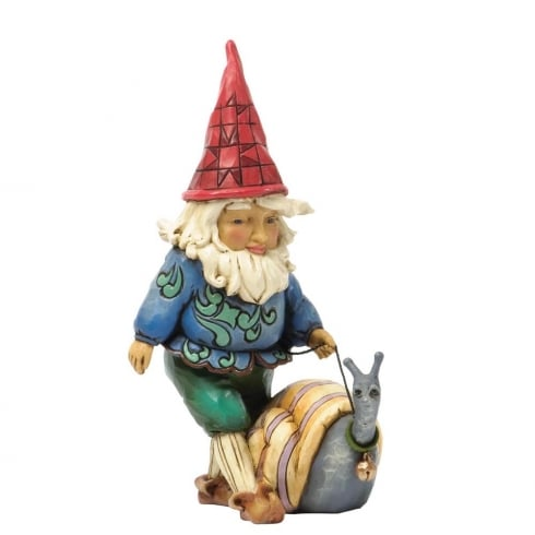 Make New Friends Gnome with Snail Figurine