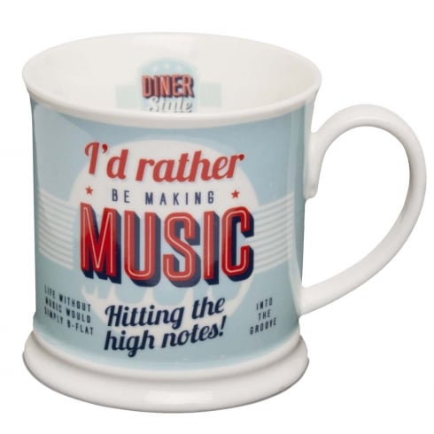 Diner Style Mugs Making Music
