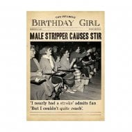 Male Stripper Causes Stir Female Humour Birthday Card