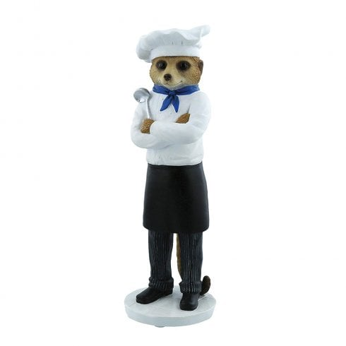 Magnificent Meerkats Marco The Chef Meerkat Figurine